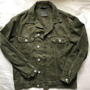 Zara Man Green Denim Jacket